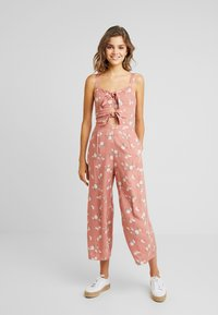 Hollister Co. - TIE FRONT - Mono - light pink/multi-coloured - 0