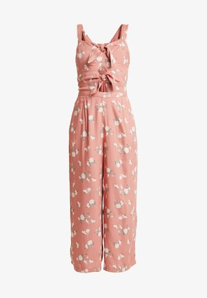 TIE FRONT - Overall / Jumpsuit - light pink/multi-coloured