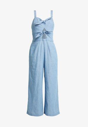 TIE FRONT - Overall / Jumpsuit /Buksedragter - blue-grey