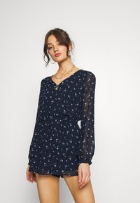 Hollister Co. - LONG ROMPER - Combinaison - navy - 0