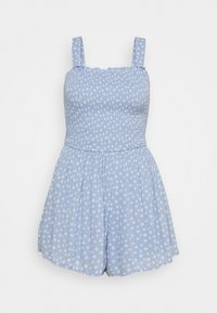 Hollister Co. - SMOCKED BODICE ROMPER - Jumpsuit - blue - 0