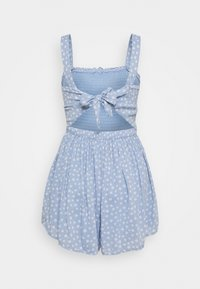 Hollister Co. - SMOCKED BODICE ROMPER - Jumpsuit - blue - 1