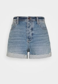 Hollister Co. - MOM CURVY MED CLEAN  - Farkkushortsit - blue denim - 3