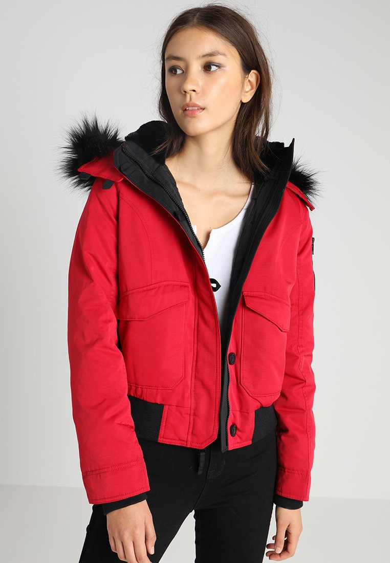 Hollister Co. - BOMBER  - Down jacket - red