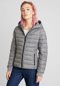 Hollister Co. - LIGHTWEIGHT PUFFER JACKET - Light jacket - grey - 0