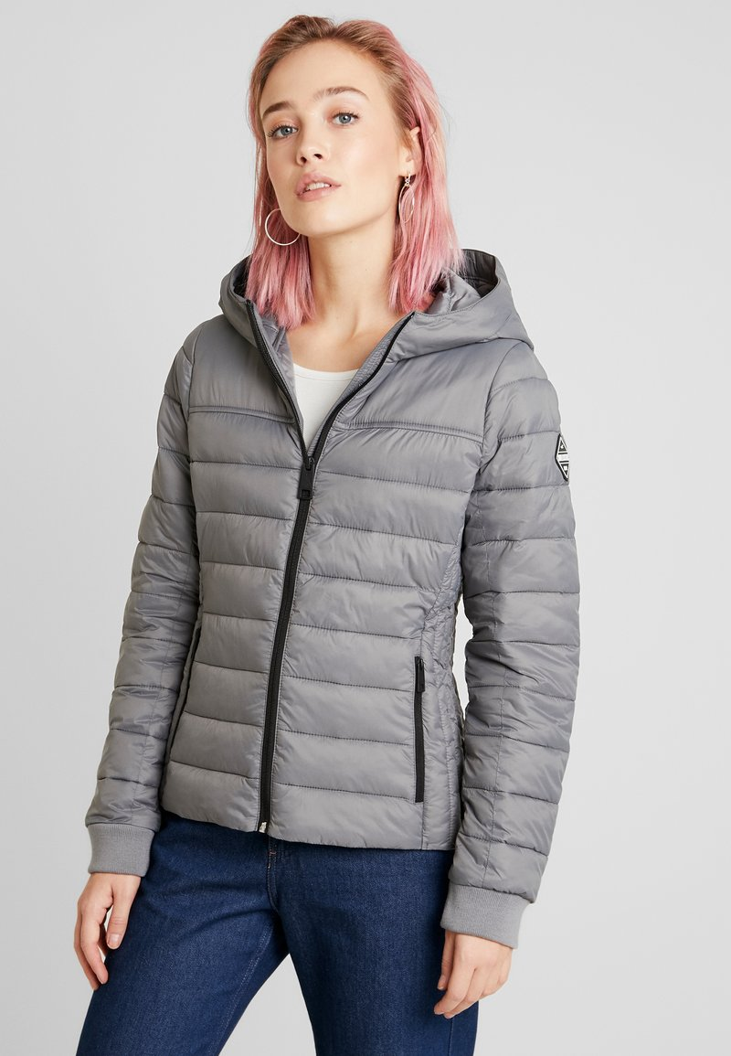 Hollister Co. - LIGHTWEIGHT PUFFER JACKET - Light jacket - grey