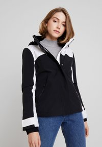 Hollister Co. - ALL WEATHER JACKET - Lett jakke - black/white - 0
