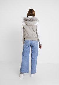 Hollister Co. - ALL WEATHER - Veste mi-saison - white to grey color block - 2