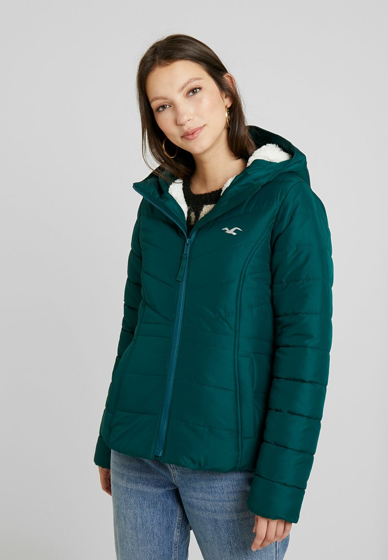 Hollister Co. - CORE PUFFER JACKET - Zimní bunda - sea moss