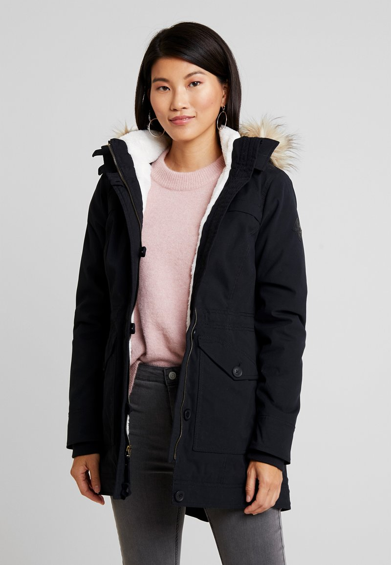 Hollister Co. - Parka - black/cream