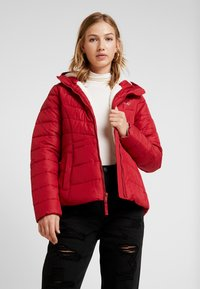 Hollister Co. - CORE PUFFER JACKET - Winter jacket - red - 0