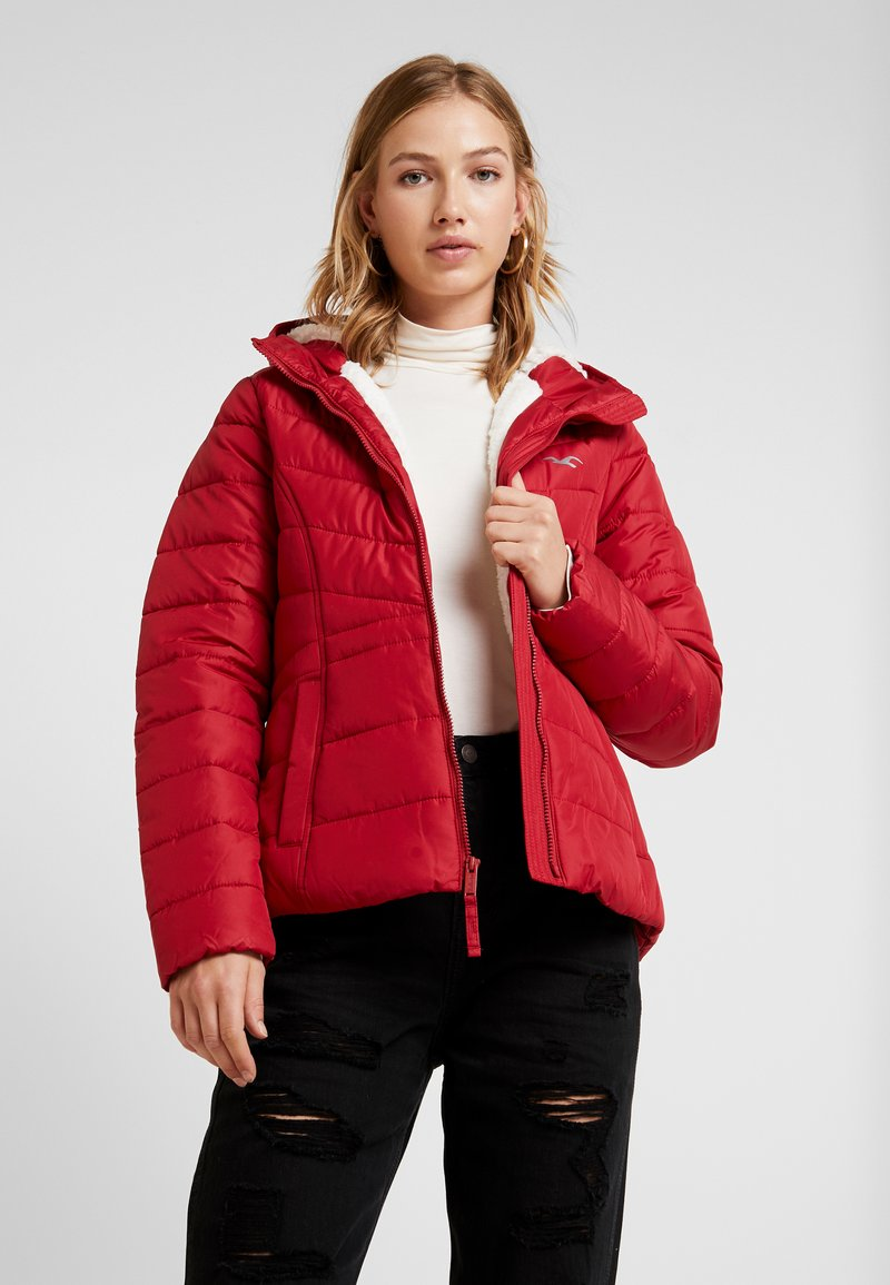 Hollister Co. - CORE PUFFER JACKET - Winter jacket - red