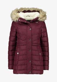 Hollister Co. - PUFFER - Zimní kabát - burg - 4