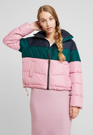 FASHION PUFFER JACKET - Lehká bunda - pink/sea moss/navy