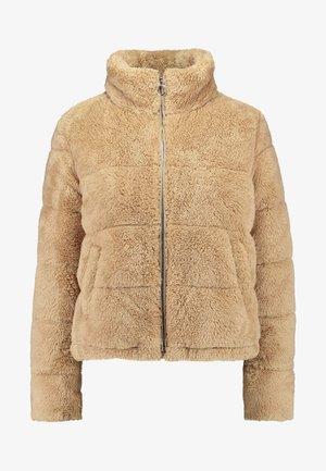 NUBBY FASHION PUFFER - Winter jacket - tan