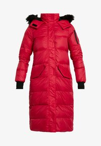 Hollister Co. - LONGLINE PUFFER PARKA - Down coat - red - 4