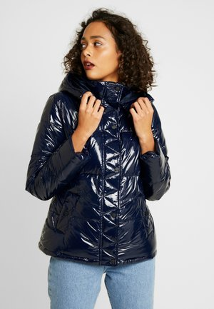 WET LOOK PUFFER JACKET - Giacca invernale - navy