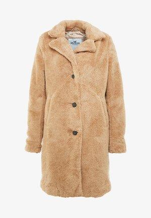 LONGLINE NUBBY COAT - Zimní kabát - tan