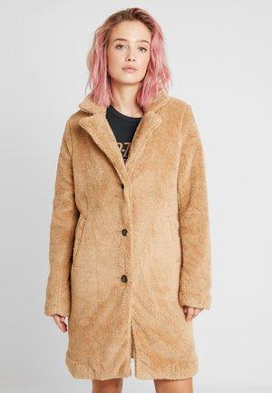 LONGLINE NUBBY COAT - Winter coat - tan