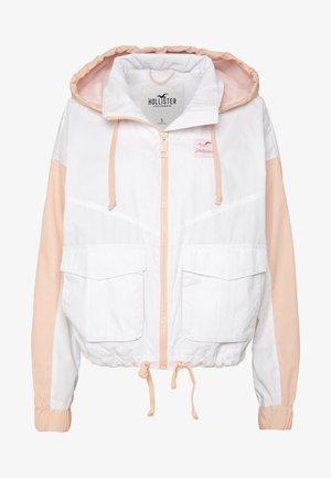 ALL THE FEELS - Lehká bunda - white/pink