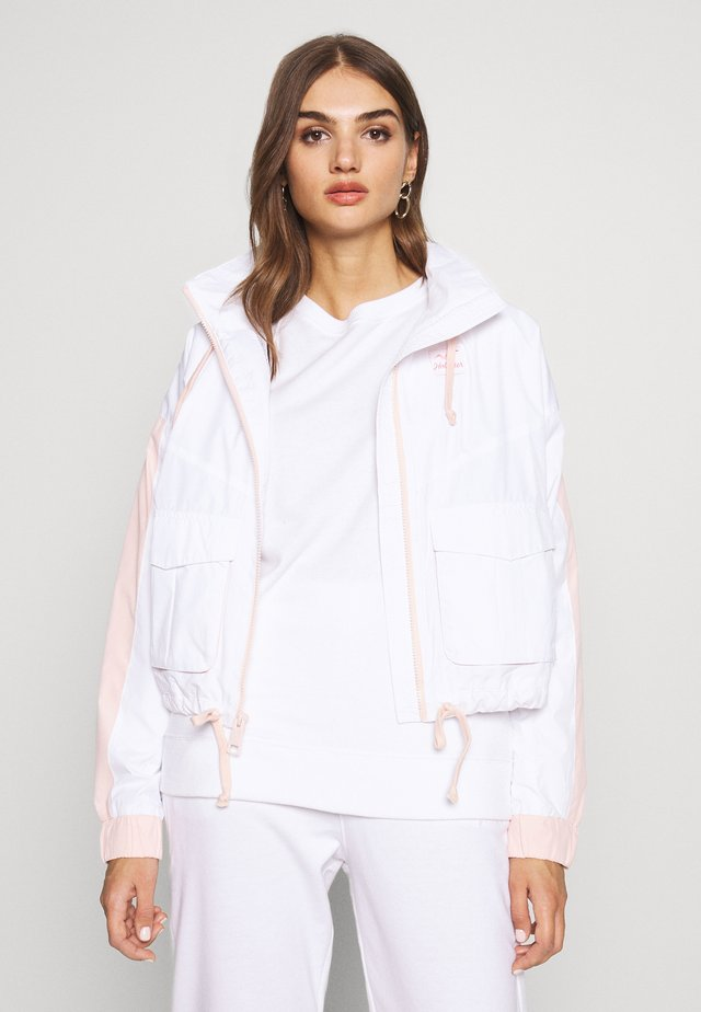 ALL THE FEELS - Chaqueta fina - white/pink