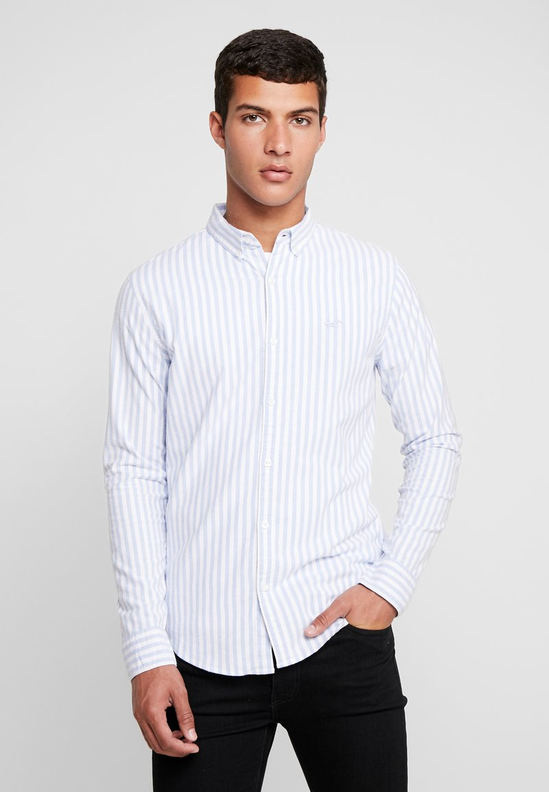 Hollister Co. - SLIM PATTERN POP  - Shirt - blue