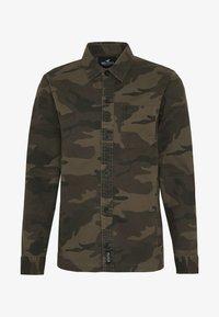 Hollister Co. - BACKGRAPHIC OVERSHIRT - Skjorta - dark green - 5