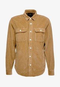 Hollister Co. - FLAN SHACKET - Overhemd - tan solid cord - 4
