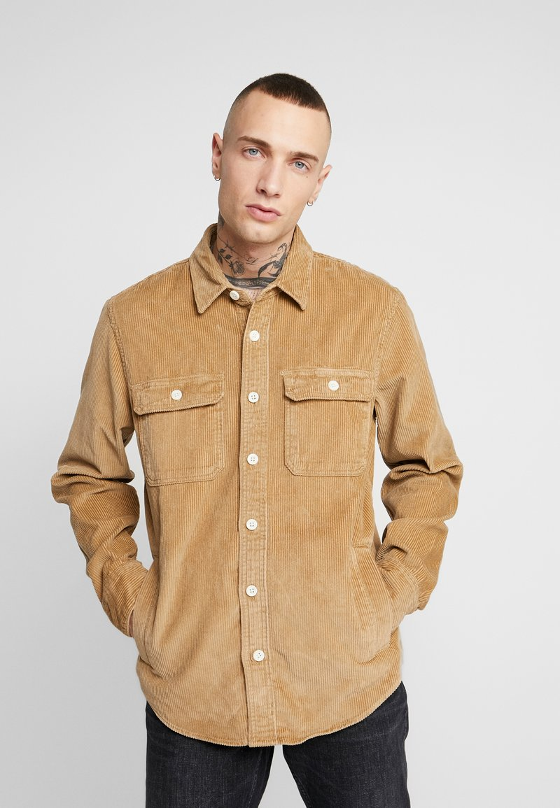 Hollister Co. - FLAN SHACKET - Shirt - tan solid cord
