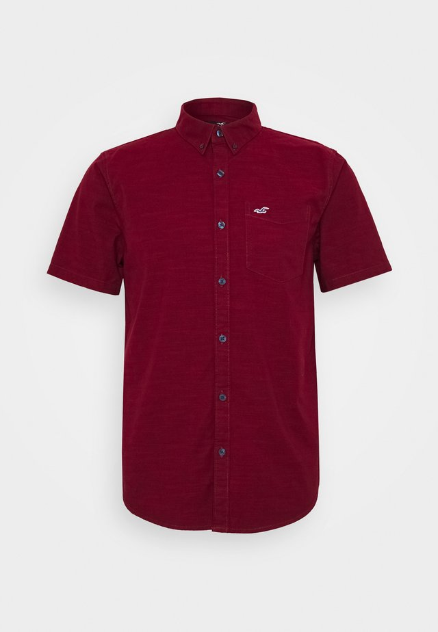 SLIM FIT - Skjorta - burgundy