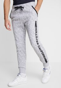Hollister Co. - PRINT LOGO JOGGER  - Pantalon de survêtement - heather grey - 0