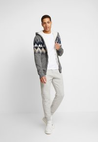 Hollister Co. - JOGGER - Tracksuit bottoms - light heather grey - 1