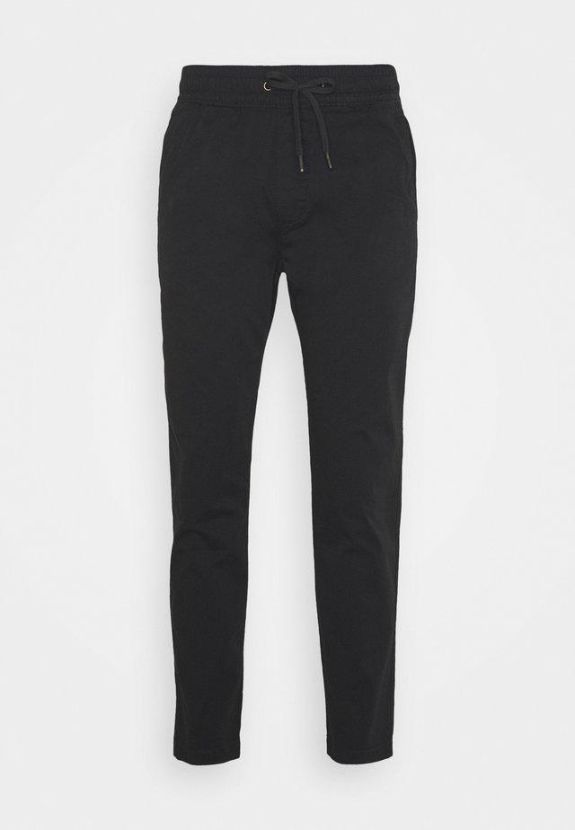 PULLON CROP - Pantalones - black