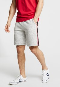Hollister Co. - LOGO SHORT - Pantalon de survêtement - grey - 0