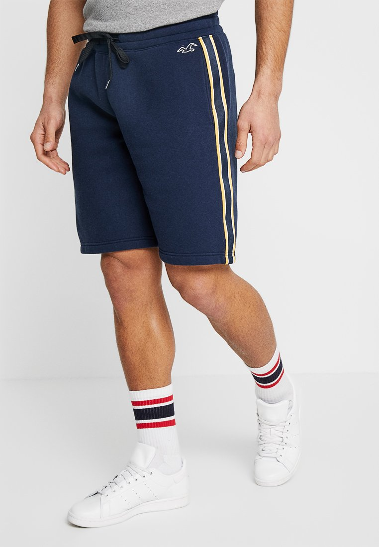 Hollister Co. - LOGO SHORT - Tracksuit bottoms - navy