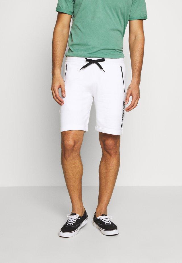 SPORT PRINT LOGO - Pantalones deportivos - white