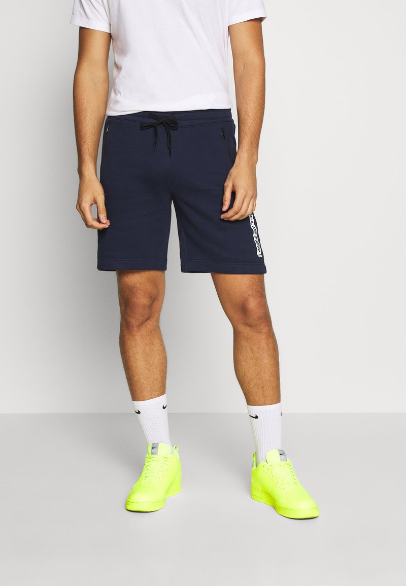 Hollister Co. - SPORT PRINT LOGO - Tracksuit bottoms - navy