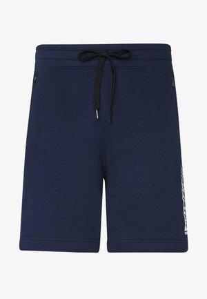 SPORT PRINT LOGO - Pantalones deportivos - navy
