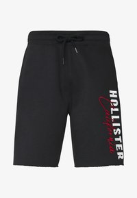 Hollister Co. - ICONIC LOGO - Tracksuit bottoms - black - 3