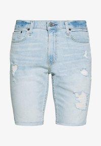 Hollister Co. - DESTROY  - Denim shorts - light blue - 3