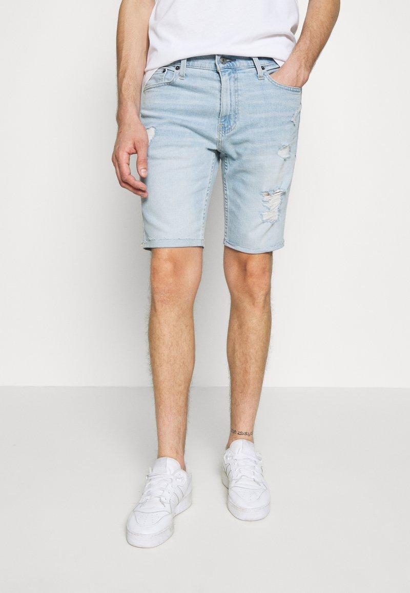 Hollister Co. - DESTROY  - Denim shorts - light blue