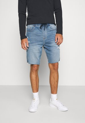 JOGGER SHORT  - Denim shorts - light-blue denim