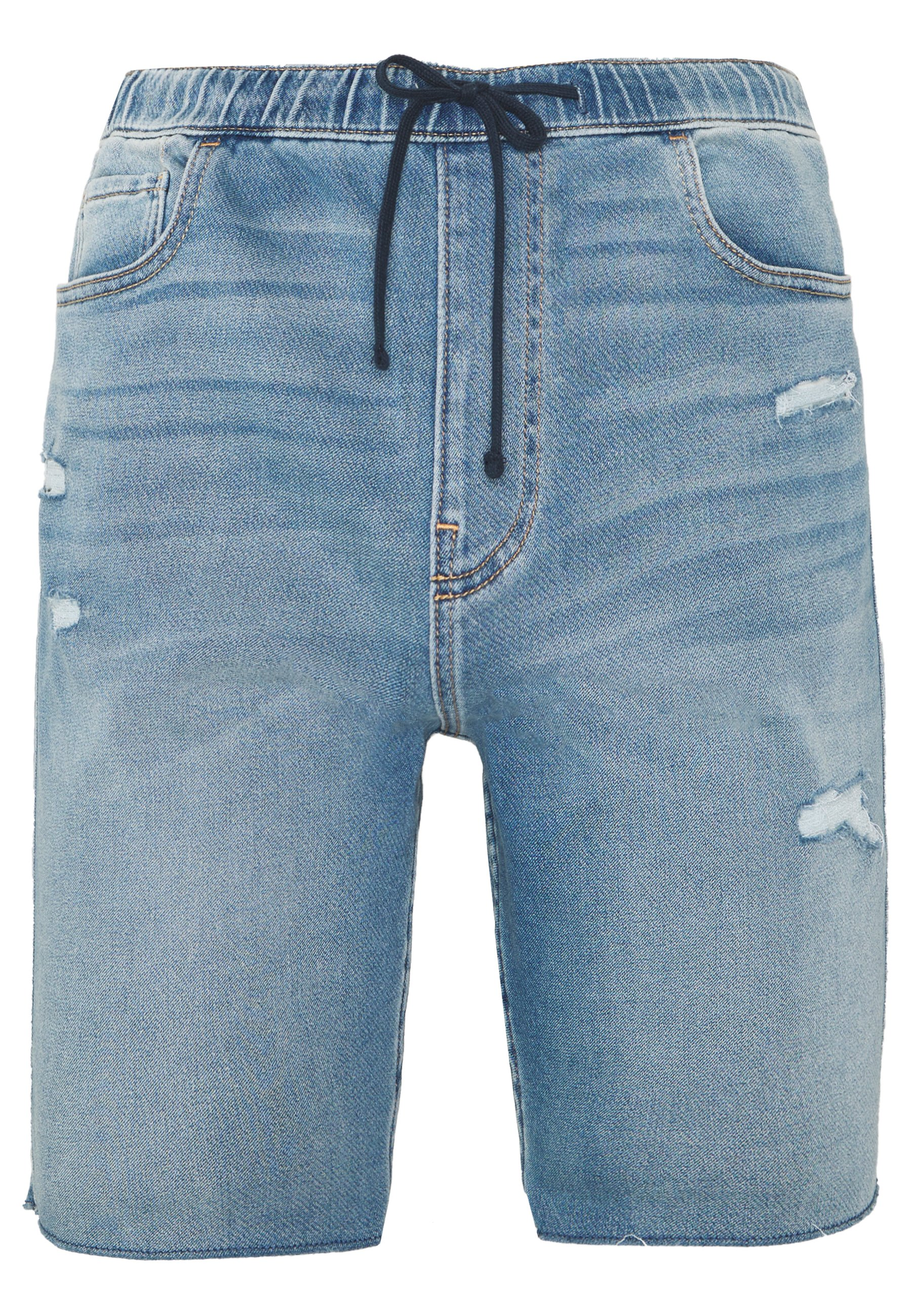 Hollister Co. JOGGER SHORT - Szorty jeansowe - light-blue denim