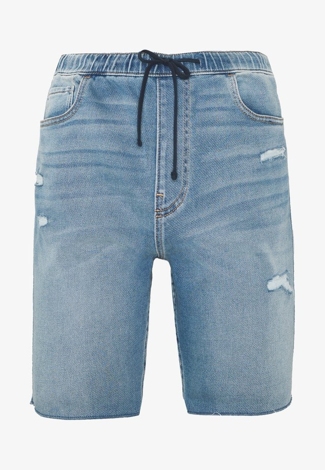 JOGGER SHORT  - Shorts vaqueros - light-blue denim