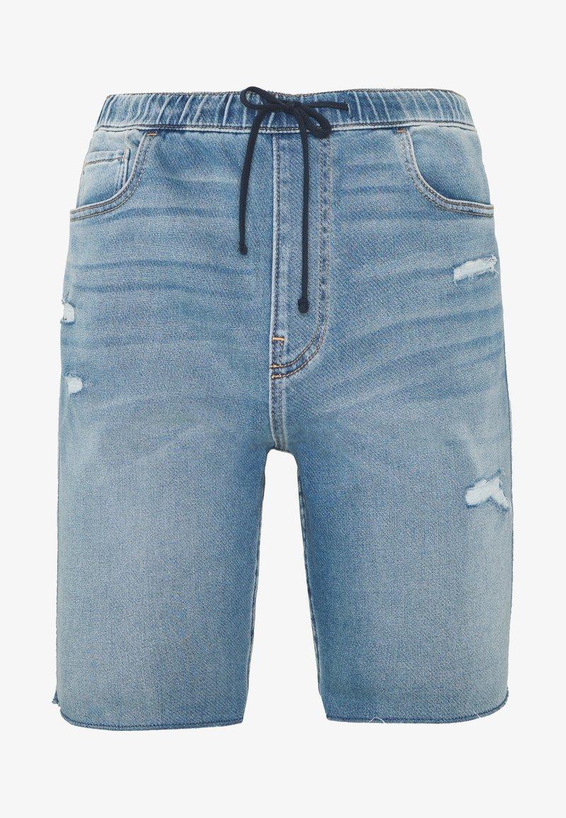 Hollister Co. - JOGGER SHORT  - Shorts di jeans - light-blue denim