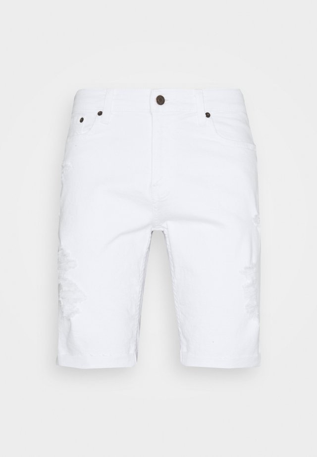 Shorts vaqueros - white destroy