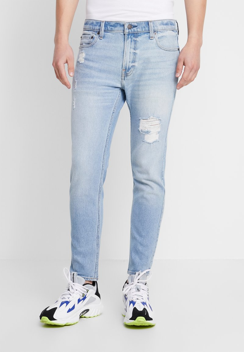 Hollister Co. - Skinny džíny - light-blue denim