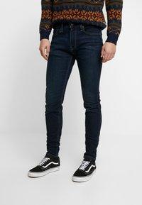 Hollister Co. - Skinny džíny - dark-blue denim - 0