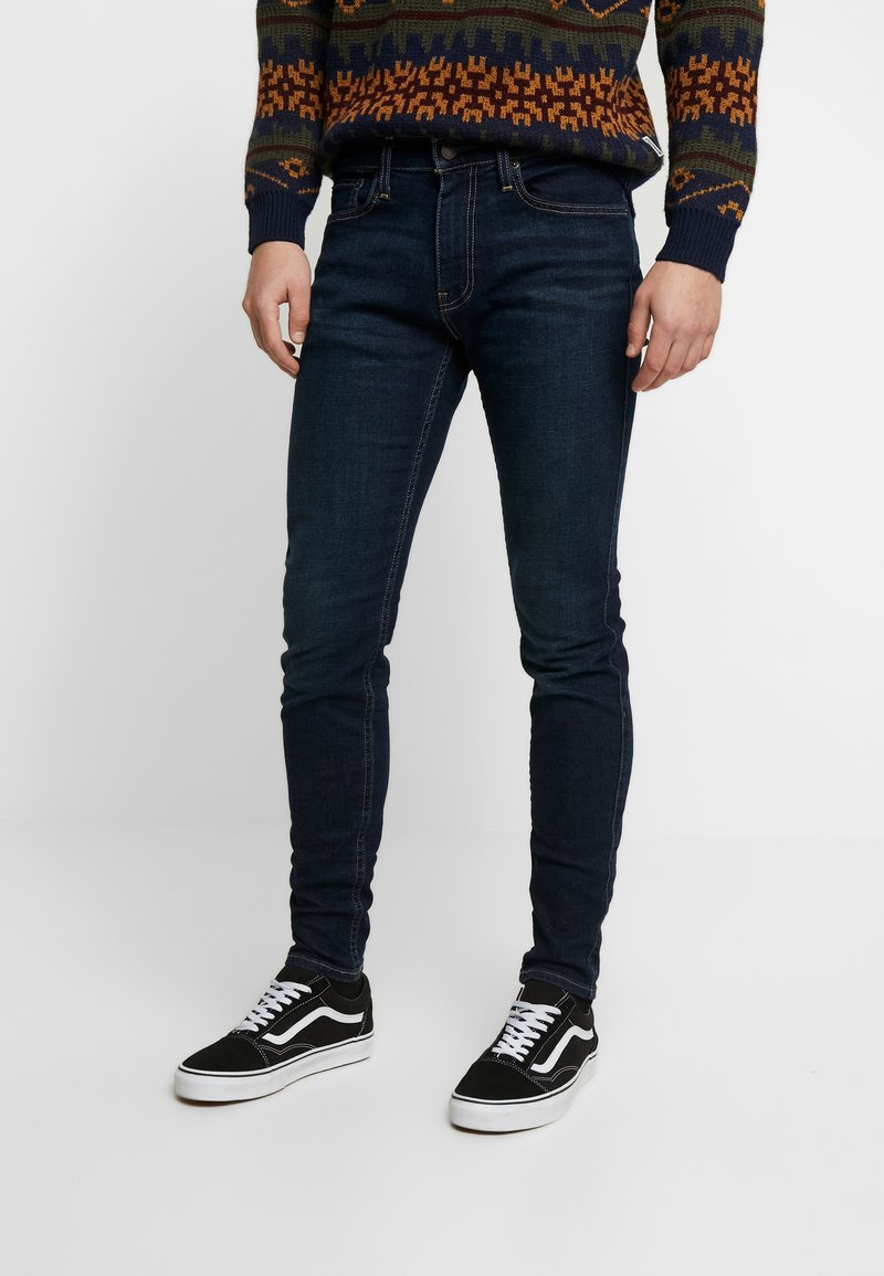 Hollister Co. - Skinny džíny - dark-blue denim