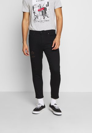 TAPER CROP REPAIR - Jeans Tapered Fit - black